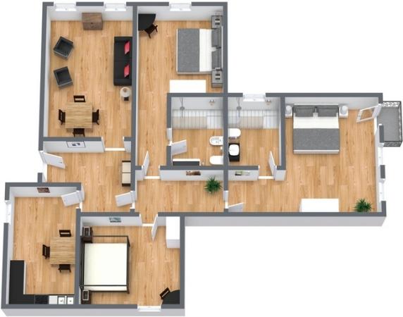 Planimetría Apartamento N.100