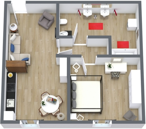 Planimetría Apartamento N.104