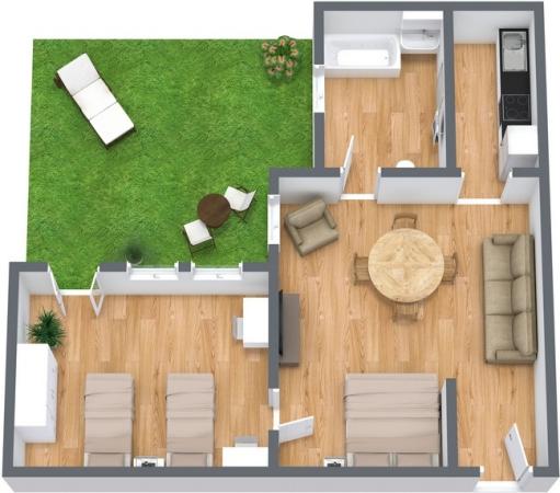 Planimetría Apartamento N.76