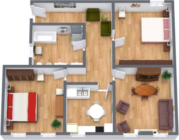 Planimetría Apartamento N.148