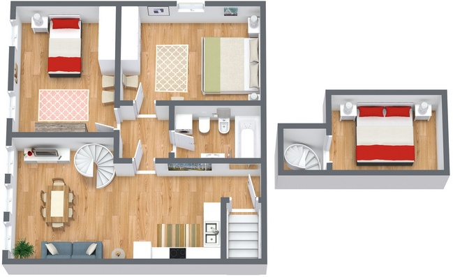 Planimetría Apartamento N.165