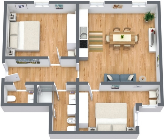 Planimetría Apartamento N.193