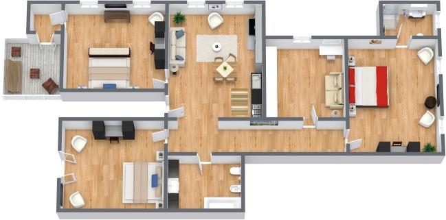 Planimetría Apartamento N.198