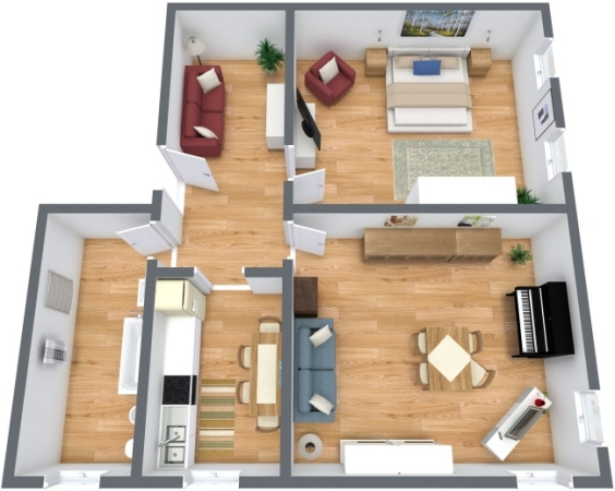 Planimetría Apartamento N.199