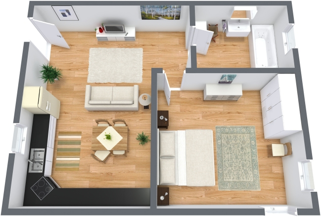 Planimetría Apartamento N.208