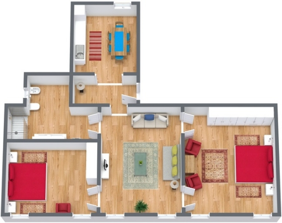 Planimetría Apartamento N.275