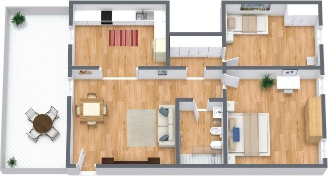 Planimetría Apartamento N.291