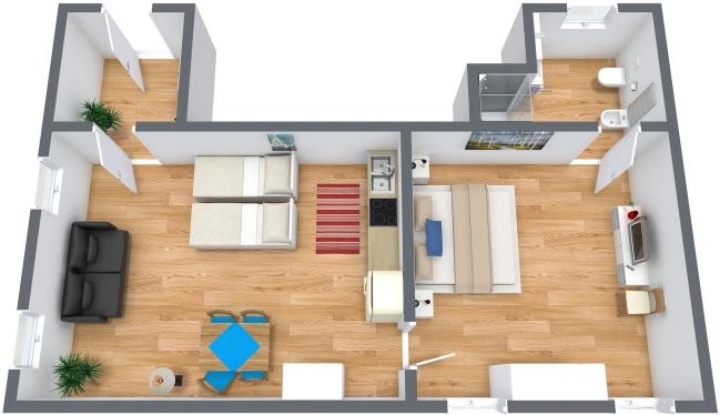 Planimetría Apartamento N.298