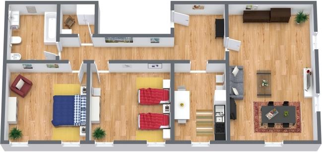 Planimetría Apartamento N.317