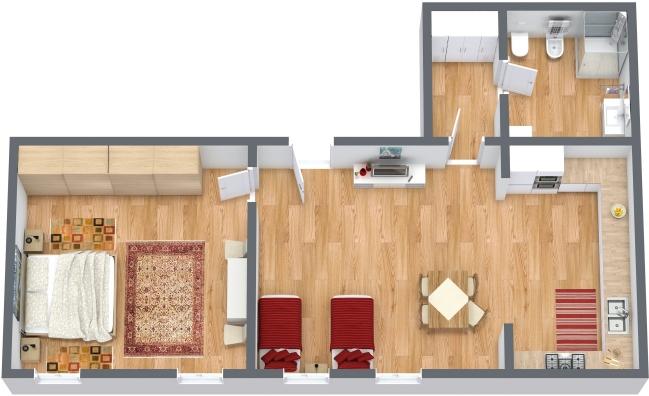 Planimetría Apartamento N.318