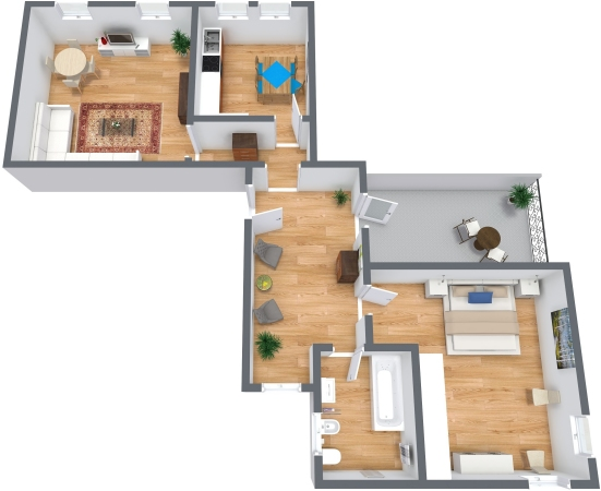 Planimetría Apartamento N.325