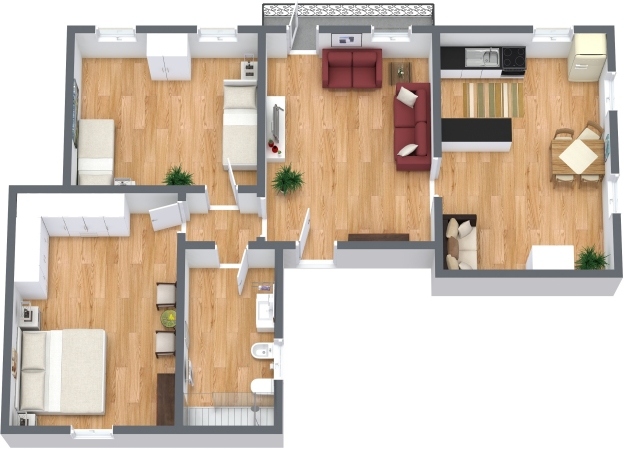 Planimetría Apartamento N.334