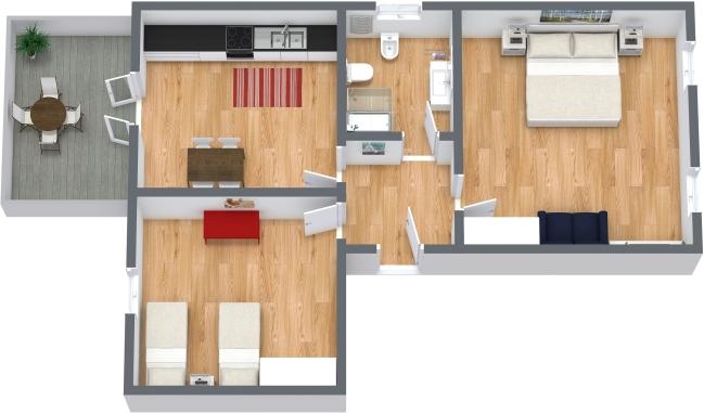 Planimetría Apartamento N.341