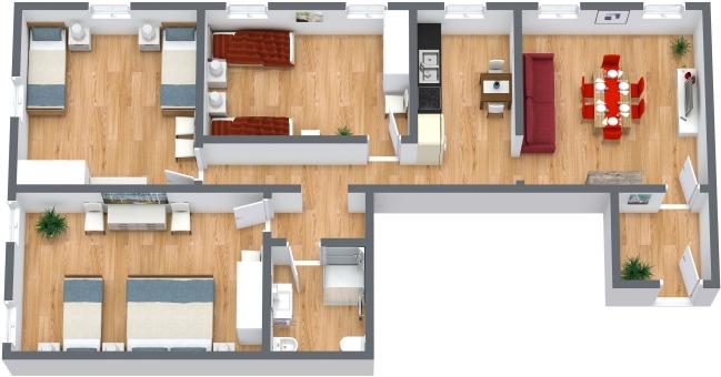 Planimetría Apartamento N.372