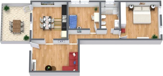 Planimetría Apartamento N.374
