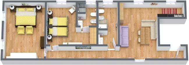 Planimetría Apartamento N.384