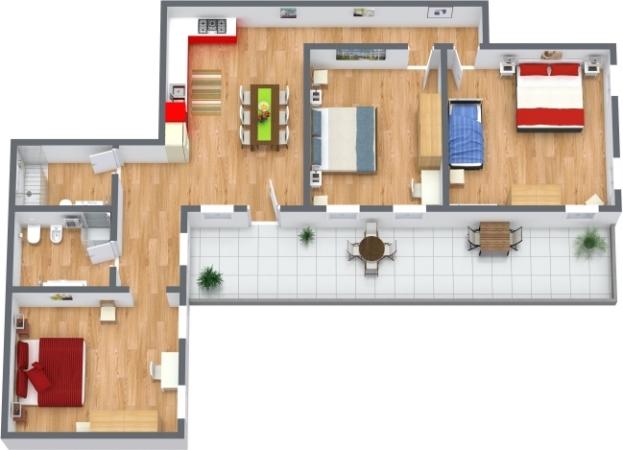 Planimetría Apartamento N.398