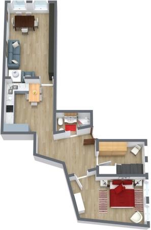 Planimetría Apartamento N.77