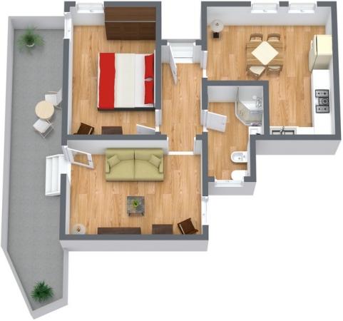Planimetría Apartamento N.124