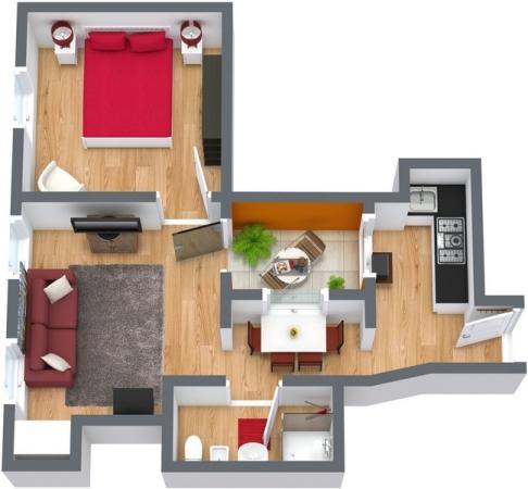 Planimetría Apartamento N.103