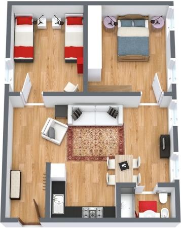 Planimetría Apartamento N.112