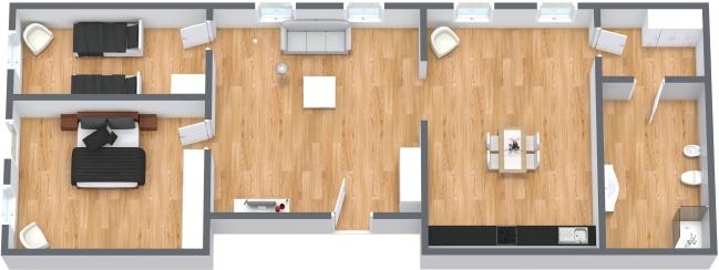 Planimetría Apartamento N.127