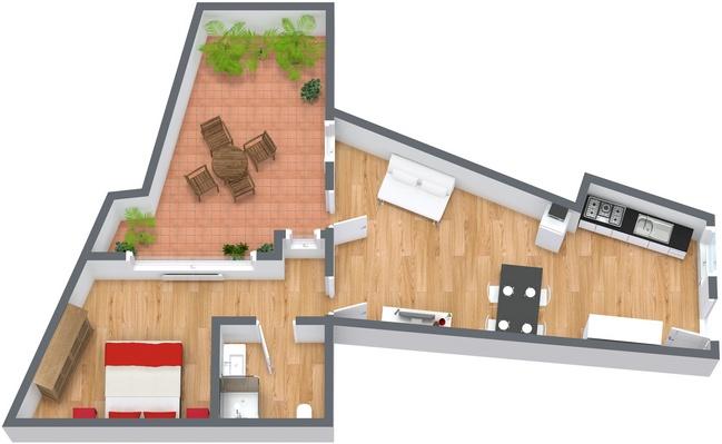 Planimetría Apartamento N.134