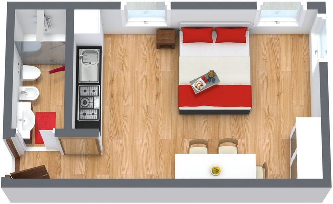 Planimetría Apartamento N.136