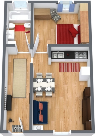 Planimetría Apartamento N.154