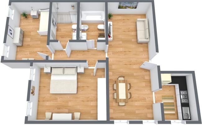 Planimetría Apartamento N.158