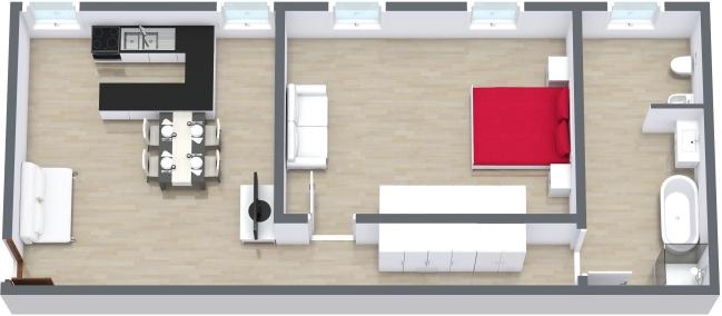Planimetría Apartamento N.204