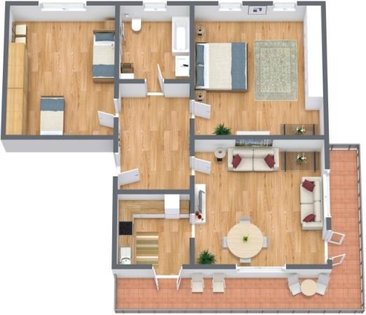 Planimetría Apartamento N.177