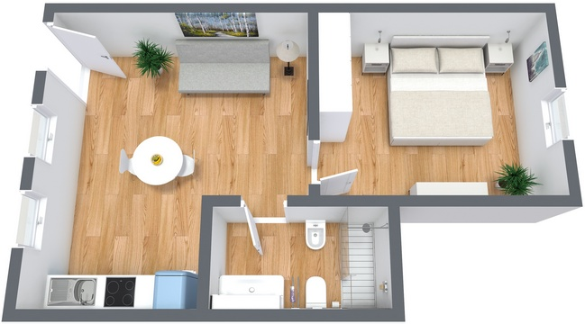 Planimetría Apartamento N.182