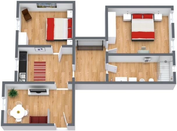 Planimetría Apartamento N.196