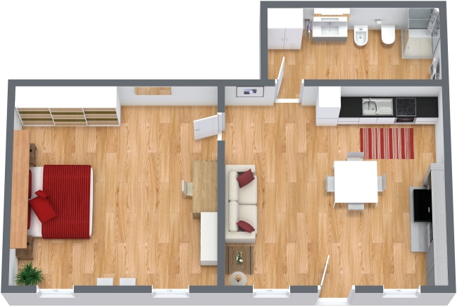 Planimetría Apartamento N.203