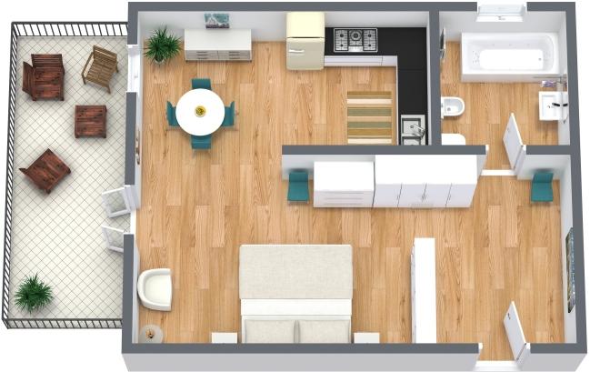 Planimetría Apartamento N.207