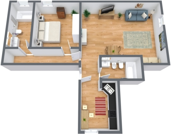 Planimetría Apartamento N.211
