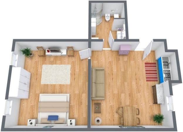 Planimetría Apartamento N.213