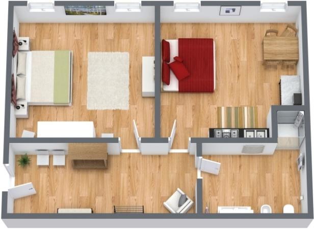 Planimetría Apartamento N.214