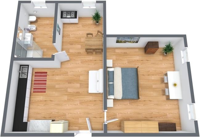 Planimetría Apartamento N.216