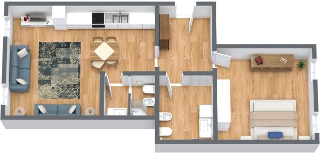 Planimetría Apartamento N.222