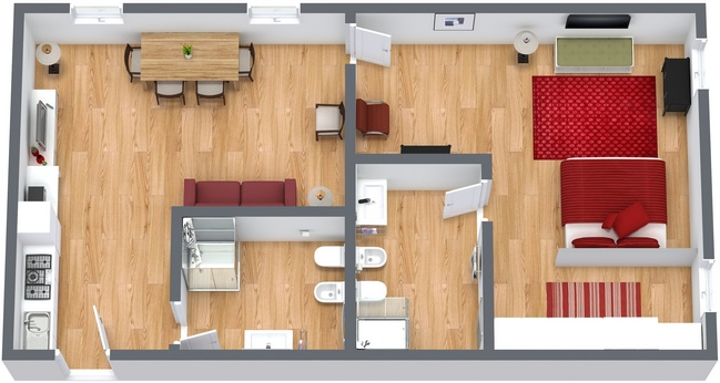 Planimetría Apartamento N.223