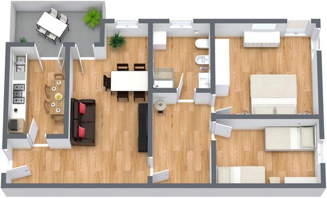 Planimetría Apartamento N.240