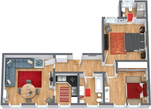 Planimetría Apartamento N.250