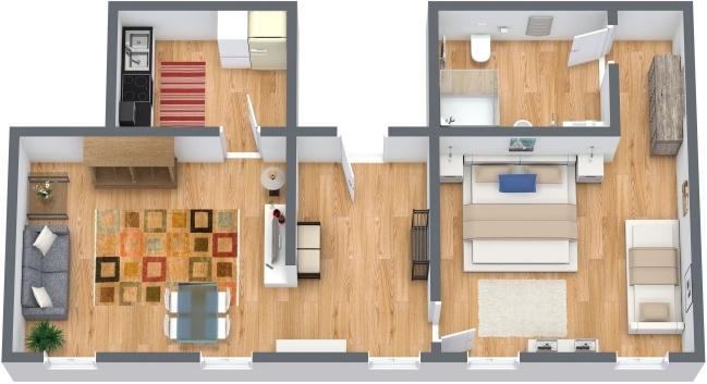 Planimetría Apartamento N.284