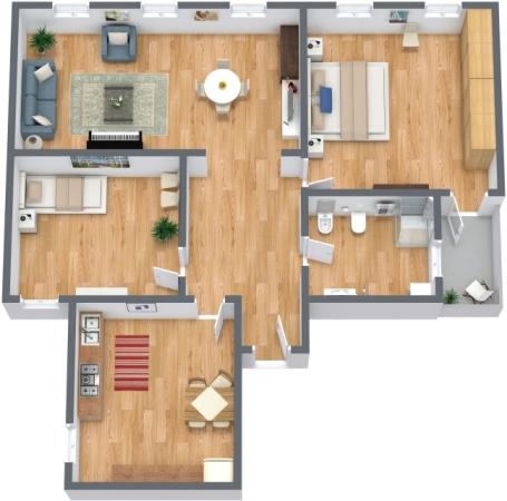 Planimetría Apartamento N.296