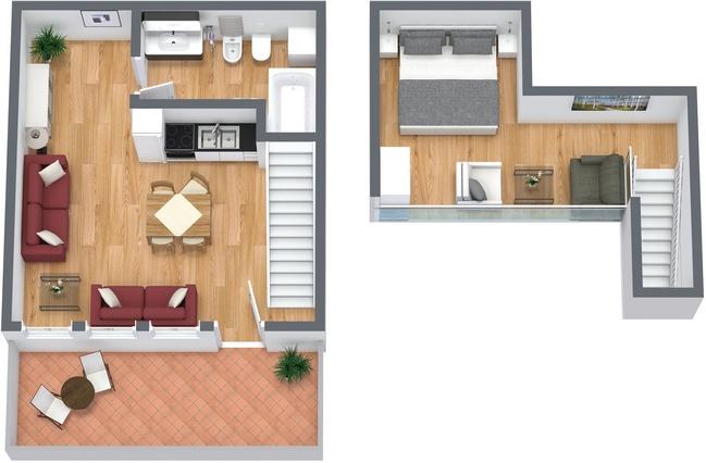 Planimetría Apartamento N.75
