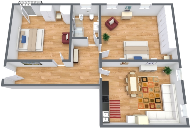 Planimetría Apartamento N.300