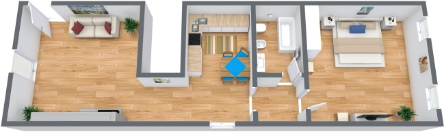 Planimetría Apartamento N.316