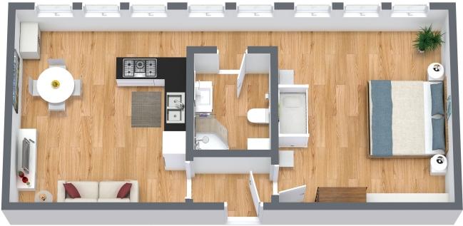 Planimetría Apartamento N.329